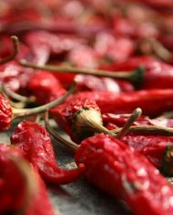 dried red hot calabrese peppers