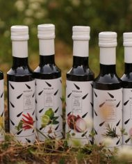 flavoured extra virgin olive oils collection.  6 bottles.