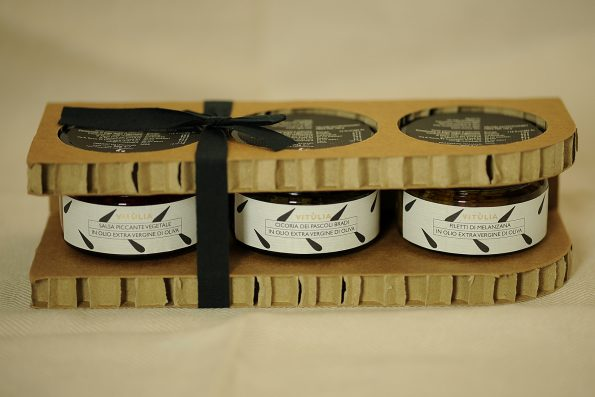 """Fancy packaging """" PANTELLERIA"""" for vitùlia food excellences. A spicy paste made with the typical mushrooms of Sila, chicory of wild pasture and aubergine slices. all infused in extra virgin olive oil. #vituliapantelleria#vituliachicorywildpastures#vituliaubergineslices#vituliaspicyvegetables"""